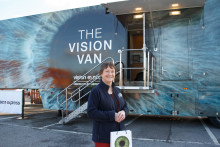 Optician gives free eye tests to the people of Cork for Healthy Eyes Awareness Week