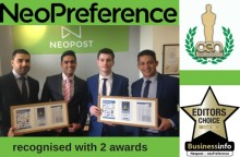 Neopost win two awards for neoPreference