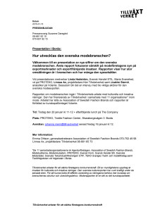 Pressinbjudan moderapport Borås