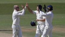 Leach takes three wickets but Australia XI build strong lead against England Lions