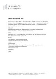 Intern revision för BRC