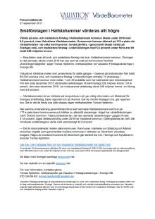Värdebarometern 2017 Hallstahammars kommun
