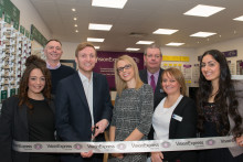 Local MP Lee Rowley joins Vision Express to officially open its new optical store at Tesco in Clay Cross