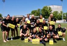 FC Rosengård cyklar säkert med Hövding