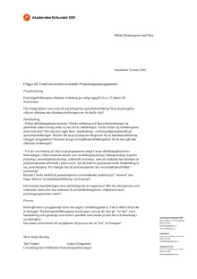 SSR frågor till Umeå universitet 14 mars