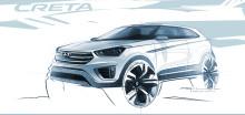 Hyundai viser skisse av Creta