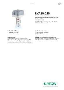 Produktblad för RVA10-230