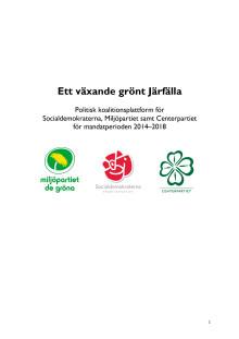 Politisk koalitionsplattform Järfälla 2014-2018