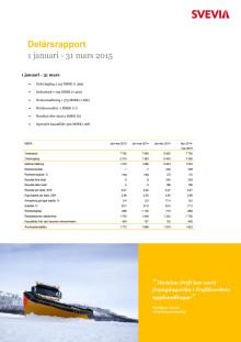 Svevia Delårsrapport januari - mars 2015