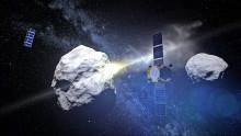 Ska krascha rymdfarkost mot en asteroid