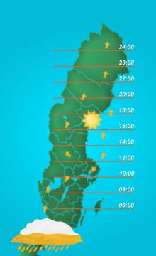 Ölregn väntas dra in över Sverige