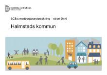 SCB:s medborgarundersökning - våren 2016_Halmstads kommun