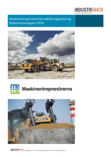 Maskinentreprenörernas konjunkturrapport MEKO juni 2019