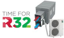 Effektiv steglös R32 utomhusdel nu med värme- och kylproduktion till ventilation med ventilationsinterface PAC-IF013