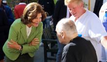 Drottningen berömde avdelning 1 på Norrtälje sjukhus