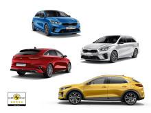 Kia Ceed får fem stjerner i Euro NCAP.