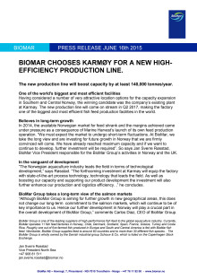 BioMar Chooses Karmøy