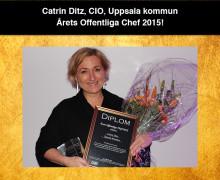 Årets Offentliga Chef 2015 är Catrin Ditz!