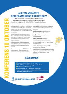 Inbjudan Friluftskonferens 10 oktober 2013