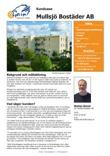 Kundcase Mullsjö Bostäder AB
