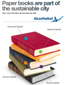 AkzoNobel at the Book Fair in Gothenburg: Paper books have a future