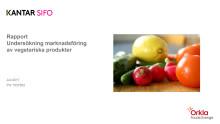 Konsumentundersökning om definitionen av vegetariskt