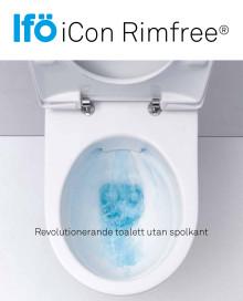Bättre hygien och enklare rengöring med Ifö iCon Rimfree