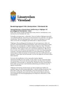 Bevakningsrapport av grundläggande betaltjänster 2018 Länsstyrelsen Värmland