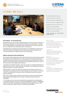 Tandberg Case Study - Stena Metall