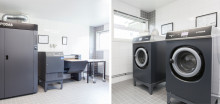 Fastighetsförvaltare och boende i Brf Bosvedjan ger tvättstugorna tummen upp