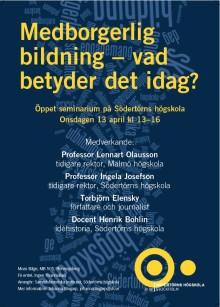Öppet seminarium om begreppet medborgerlig bildning