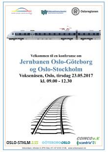 Viktigt seminarium i Oslo om Oslo-Stockholm och Oslo-Göteborg