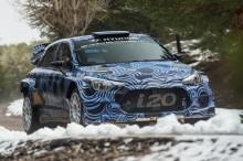 Hyundai tester nye i20 for WRC i 2016