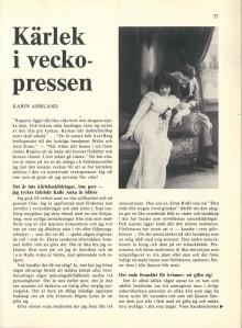 Tema: Kärlek & Makt. Kärlek i veckopressen
