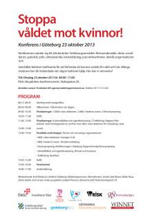Inbjudan - Stoppa våldet mot kvinnor