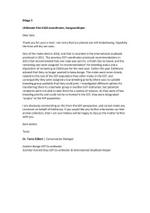Bilaga 3 Utlåtande från EAZA-koordinator