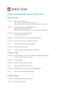 Studiebesök från Turkiet 6-8 april