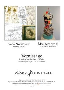 Sven Nordqvist och Åke Arnerdal, Vernissage lördag 20 oktober 2018