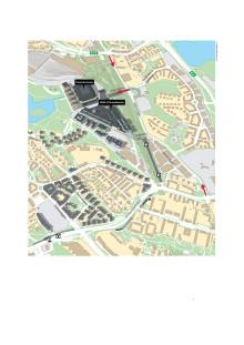 Karta - Färdvägar till Arenastaden