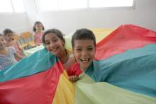 Odenses børn støtter flygtningebørns muligheder for at lege
