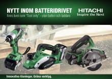 Hitachi lanserar unika nyheter 18V-sortimentet