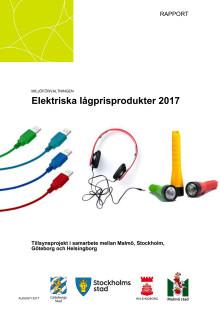 Rapport om elektriska lågprisprodukter 2017
