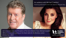Renowned actor Michael Crawford CBE set to visit The Guildhall Cambridge in exclusive event for The Sick Children's Trust