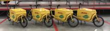 DHL har börjat leverera paket via elcyklar i Stockholms innerstad
