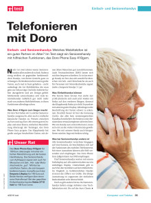 Best in Germany: Doro PhoneEasy 410gsm best phone for elderly