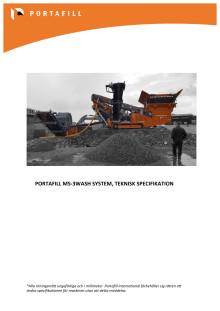 Portafill MS-3Wash System Teknisk Specifikation