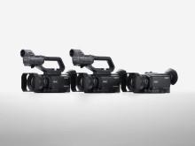 Tre nye håndholdte videokameraer for proff- og forbrukermarkedet