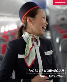 Faces of Norwegian: Julie Chen