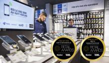 Dubbla finalplatser för Elgiganten i Retail Awards 2018