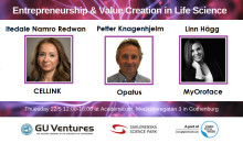 "Pitching companies at ""Entrepreneurship & Value Creation in Life Science"" 22/5 during #gbgtechweek"